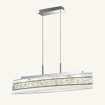 ITALUX FRANCO 1 ágú függeszték 5 foglalattal, króm, 3000K melegfehér, beépített LED, 1200 lm, IT-P29396-1A