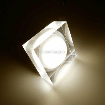 Ledium Crystallo süllyesztett LED lámpa, négyzet, 3W, 12V, 373 lm, 3500K melegfehér