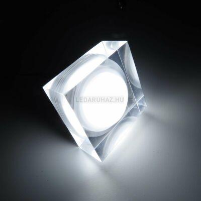 Ledium Crystallo süllyesztett LED lámpa, négyzet, 3W, 12V, 387 lm, 5000K hidegfehér