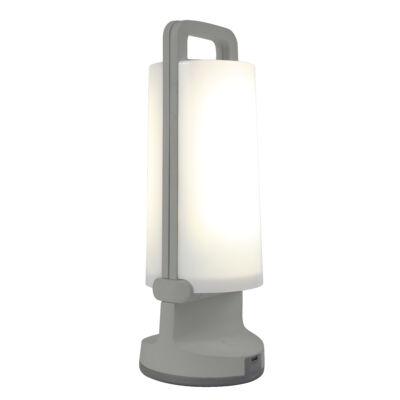 LUTEC Dragonfly szolár hordozható asztali lámpa, 1,2W, 120 lm, 4000K természetes fehér, IP54, szürke, LUTEC-6904101337, P9041 si