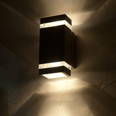LUTEC Focus kültéri fali lámpa, 7,6W, 300 lm, 4000K természetes fehér, IP44, antracit, LUTEC-5605013118, 6050 LED gr