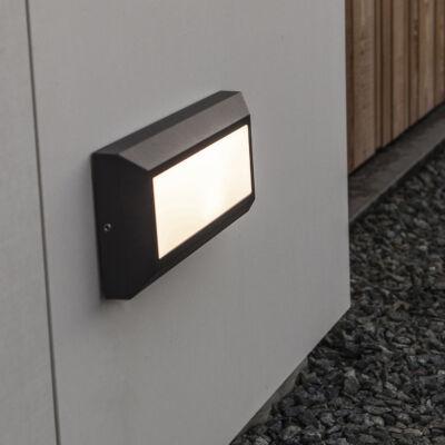 LUTEC Helena kültéri fali lámpa, 10,5W, 400 lm, 4000K természetes fehér, IP54, fekete, LUTEC-5191601118, 5191601118