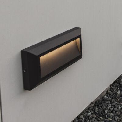 LUTEC Helena kültéri fali lámpa, 10,5W, 400 lm, 4000K természetes fehér, IP54, fekete, LUTEC-5191602118, 5191602118