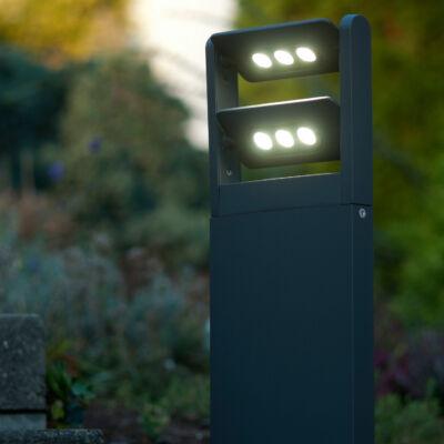 LUTEC Mini LEDspot kültéri állólámpa, 18W, 1210 lm, 4000K természetes fehér, IP65, antracit, LUTEC-7214604118, 6146S-2-616 gr