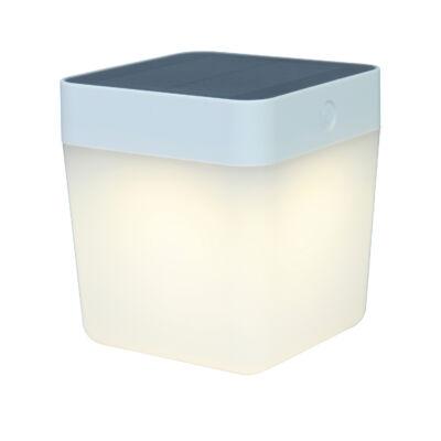 LUTEC Table Cube szolár hordozható asztali lámpa, 1W, 100 lm, 3000K melegfehér, IP44, szürke, LUTEC-6908001337, P9080-3K si