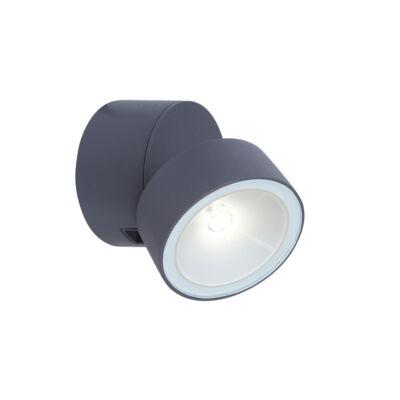 LUTEC TRUMPET fali lámpa szürke, 4000K természetes fehér, beépített LED, 600 lm, LUTEC-5626101125