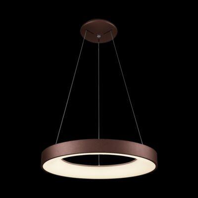 LUXERA GENTIS gyűrűs függeszték barna, 4000K természetes fehér, beépített LED, 2400 lm, 18405