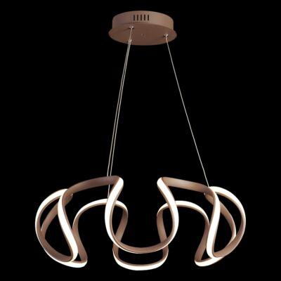 LUXERA PASSO gyűrűs függeszték barna, 3000K melegfehér, beépített LED, 2520 lm, 18201