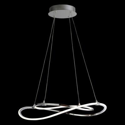 LUXERA SONNO gyűrűs függeszték króm, 3000K melegfehér, beépített LED, 2700 lm, 18204