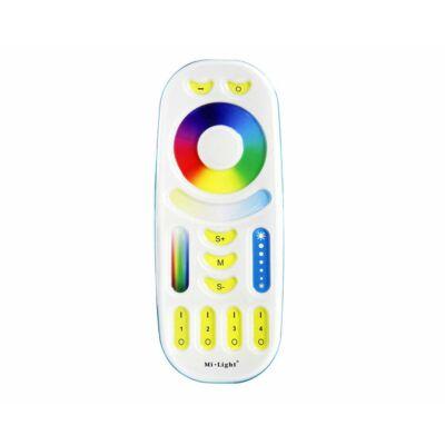 Mi-Light FUT092 RGB+CCT távirányító, érintőgombos, 4 zónás