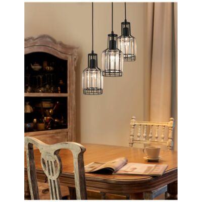 Nova Luce Carter függesztett lámpa, 32 cm, fekete, Fényforrás nélkül, NLC-9001701