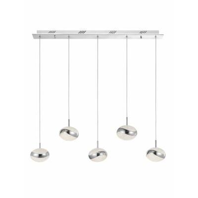 Nova Luce Delano LED függesztett lámpa, 88 cm, króm, 3000K melegfehér, NLC-9988004