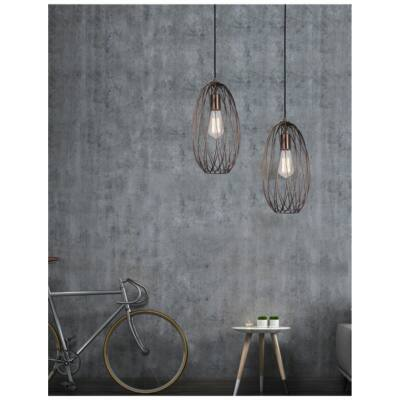 Nova Luce Eriberto függesztett lámpa, 18 cm, réz, Fényforrás nélkül, NLC-8436419