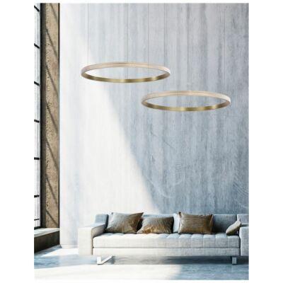 Nova Luce Orlando LED függesztett lámpa, 85 cm, arany, 3000K melegfehér, NLC-86016802