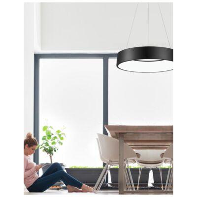 Nova Luce Rando LED függesztett lámpa, 60 cm, fekete, 3000K melegfehér, NLC-6167220