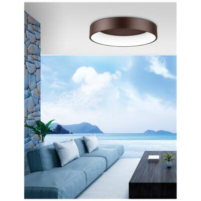 Nova Luce Rando LED mennyezeti lámpa, 60 cm, barna, 3000K melegfehér, NLC-6167210