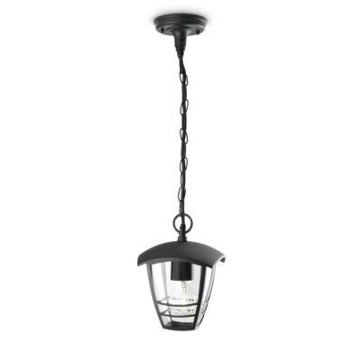Philips Creek kerti kültéri függesztett lámpa, E27 foglalat, fekete, 153863016