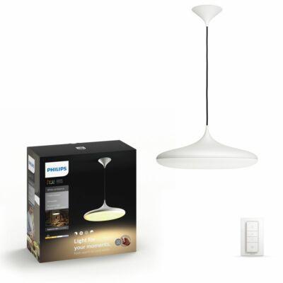 Philips Hue Cher függesztett LED lámpa, fehér, 39W, 3000 lm, 4000K, 2200K-6500K + DimSwitch, 40761/31/P7