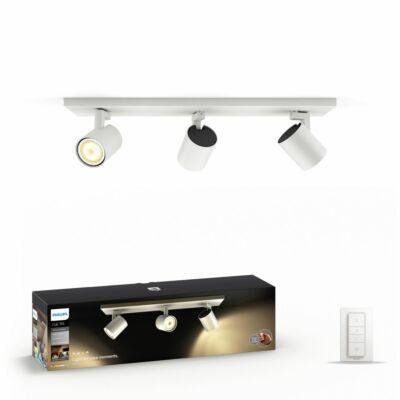 Philips Hue Runner hármas mennyezeti fehér LED spot, 2200K-6500K 3xGU10+DimSwitch, 53093/31/P7