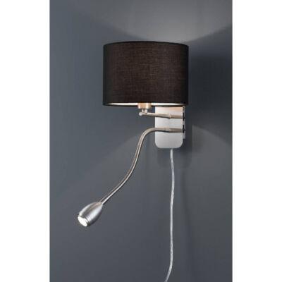 TRIO HOTEL fali lámpa fekete, E14, TRIO-271170202