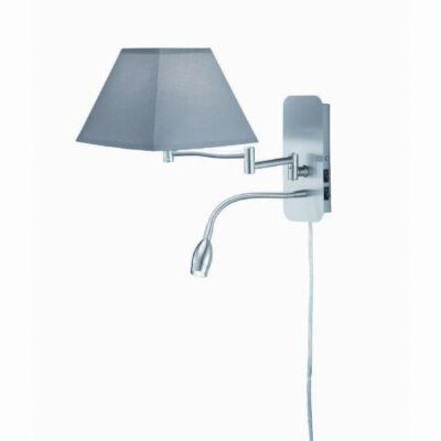 TRIO HOTEL fali lámpa szürke, E14, TRIO-271370211