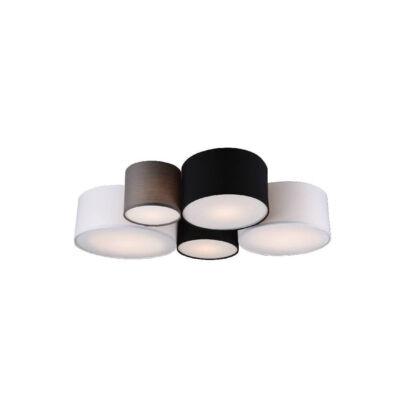 TRIO HOTEL mennyezeti lámpa 5 foglalattal, szürke, E27, TRIO-693900517