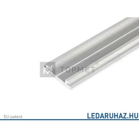Topmet Arc12 alumínium hajlítható LED profil, natúr alu (előlap: C,D) - B2010000 - 2m