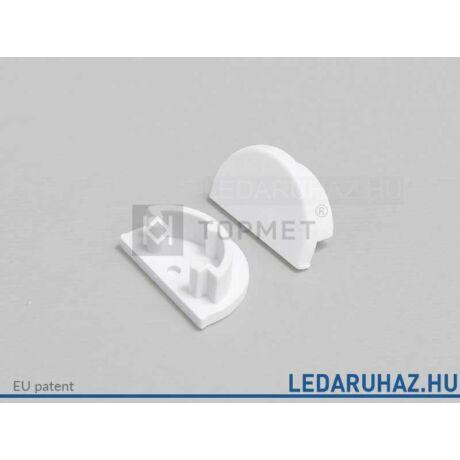 Topmet Arc12 LED profil végzáró D előlaphoz, fehér - B2990001