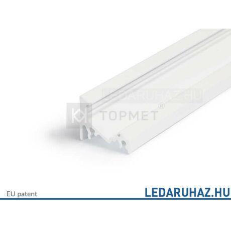 Topmet Corner14 alumínium LED sarok profil, fehér (előlap: E, F) - A4020001 - 2m