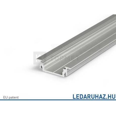 Topmet Groove14 süllyesztett alumínium LED profil, ezüst eloxált (előlap: E,F) - A3020020 - 2m