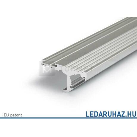 Topmet Step10 alumínium LED lépcsőprofil, ezüst eloxált (előlap: A) - 32080020 - 2m