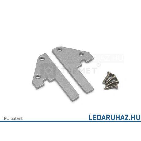 Topmet Step10 alumínium LED profil, ezüst acél végzáró - 32100022