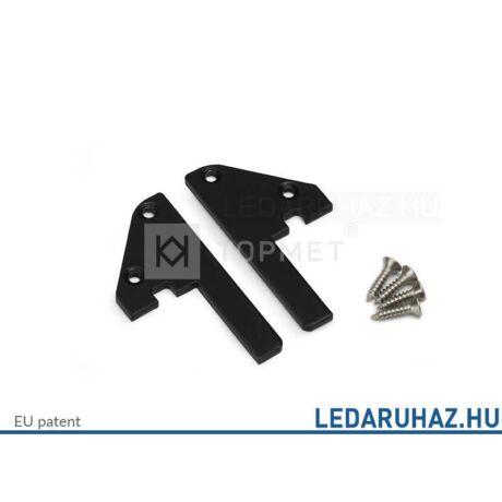 Topmet Step10 alumínium LED profil, fekete acél végzáró - 32100002