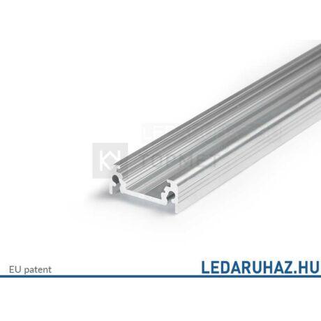 Topmet Surface10 alumínium LED U-profil, ezüst eloxált (előlap: B, C) - 77270020 - 2m