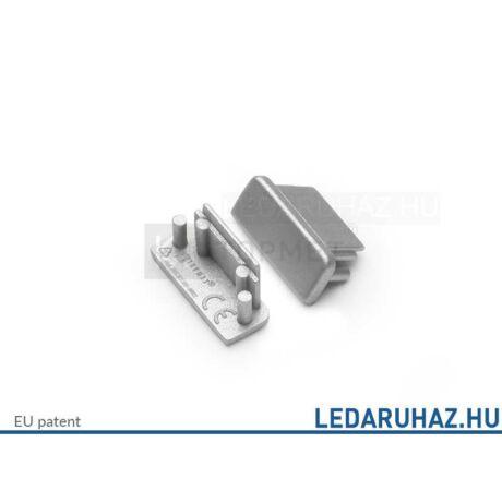 Topmet Surface14 LED profil ezüst végzáró - A2070040