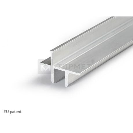 Topmet Twin8 alumínium LED profil üvegpolchoz, natúr alu - 82150000 - 2m