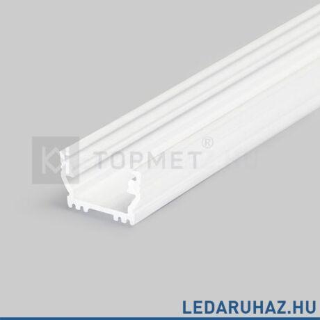 Topmet Uni12 alumínium LED profil, fehér (előlap: B, C, D) - A1020001 - 2m