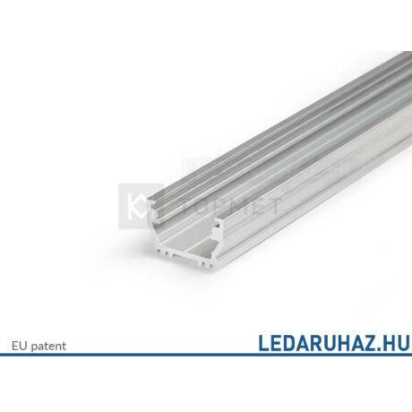 Topmet Uni12 alumínium LED profil, natúr alu (előlap: B, C, D) - A1020000 - 2m
