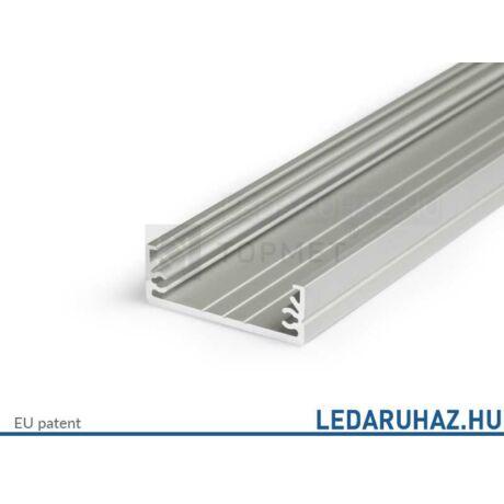 Topmet Wide24 széles alumínium LED profil, ezüst eloxált (előlap: G) - 84030020 - 2m