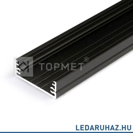Topmet Wide24 széles alumínium LED profil, fekete (előlap: G) - 84030021 - 2m