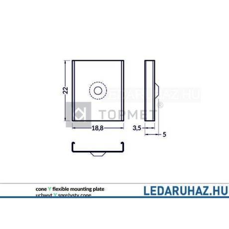 Topmet Y profilrögzítő (Surface14, Linea20, Groove14, Corner14 profilokhoz) - A2130019