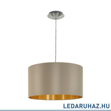 EGLO 31602 MASERLO Textil függesztett lámpa 38 cm, szürkésbarna, E27 foglalattal