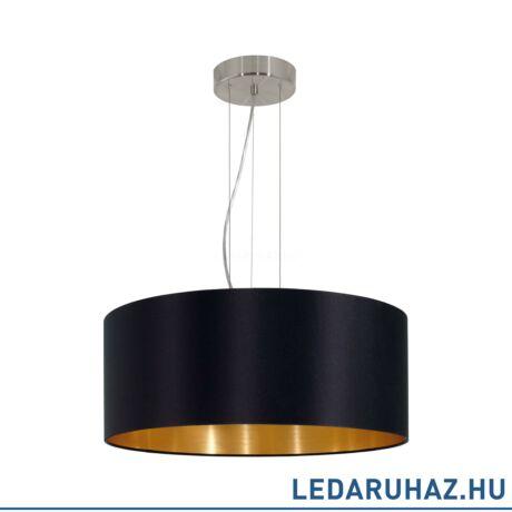 EGLO 31605 MASERLO Textil függesztett lámpa, 53 cm, fekete, 3 db. E27 foglalattal