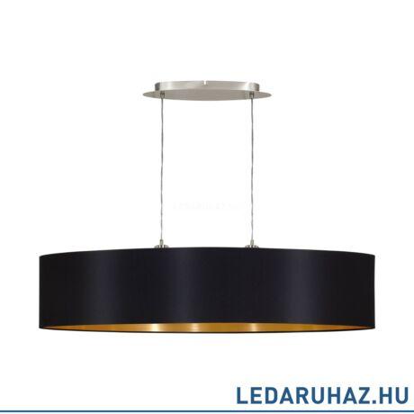 EGLO 31616 MASERLO Textil függesztett lámpa, ovális, 100 cm, fekete, 2 db. E27 foglalattal