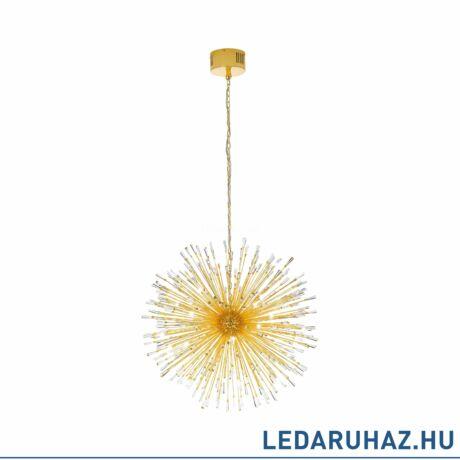 EGLO 39256 VIVALDO 1 függesztett LED lámpa, 98cm átmérő, arany/kristály, 38,4W, 3000K melegfehérfehér, 3200lm, G4 foglalattal