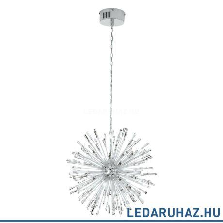 EGLO 39261 VIVALDO 1 függesztett LED lámpa 68 cm átmérő, króm/kristály, 25,2W, 3000K melegfehérfehér, 2100 lm, G4 foglalattal