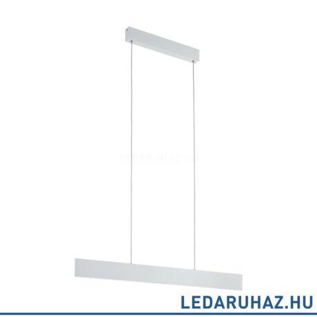 EGLO 39266 CLIMENE függesztett LED lámpa, 95 cm hosszú, csiszolt alumínium, beépített LED, 21,2W, 3000K melegfehér, 2500lm, fényerőszabályozható