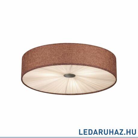 EGLO 39445 FUNGINO mennyezeti lámpa, 57cm átmérő, barna, 3 db. E27 foglalattal, 3x60W + ajándék LED fényforrás
