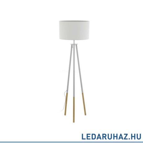 EGLO 49156 BIDFORD Fehér állólámpa E27 foglalattal, 154 cm magas, 1x60 cm