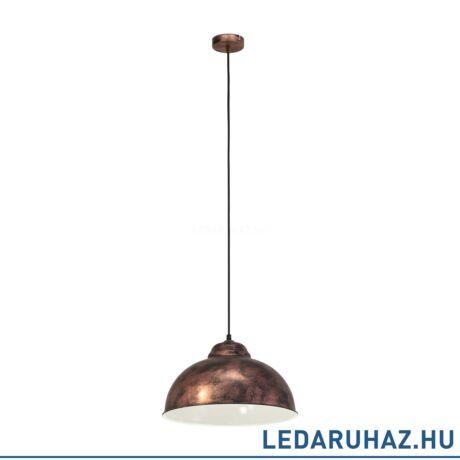 EGLO 49248 TRURO 2 Vintage függesztett lámpa 37 cm, antik réz, E27 foglalattal